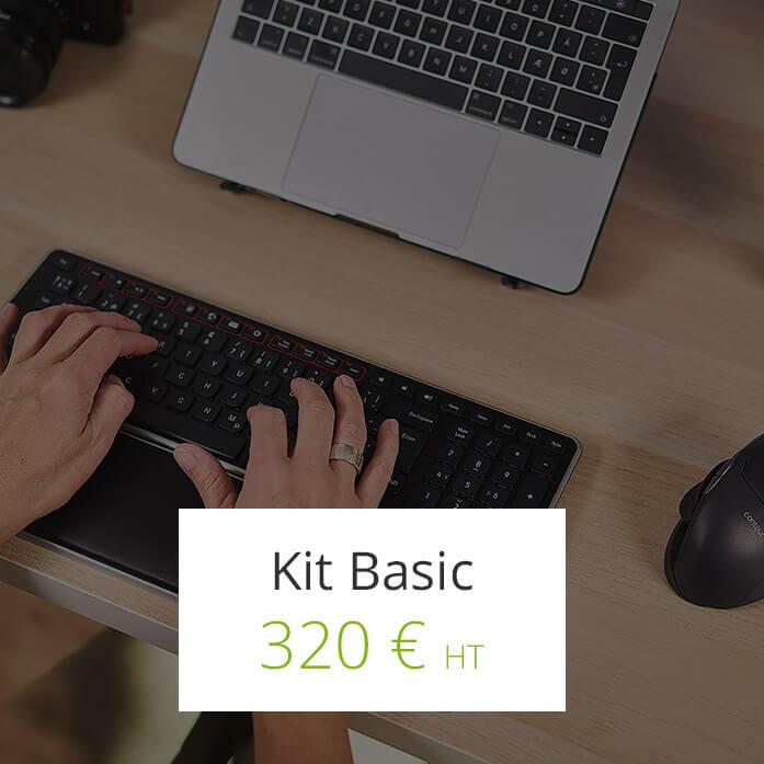 Kit Basic Ergoconfort - Télétravail sur l'ile de la Réunion 974